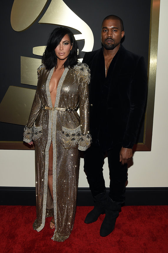 kim-kardashian-kanye-name-grammy-2015-red-carpet